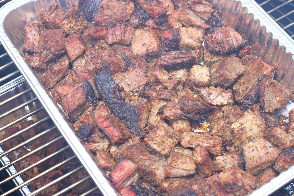 Burnt Ends in an Aluminum Tray